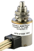 Environmentally sealed limit switch with Leadwire termination, Plunger actuation, Four Pole Double Throw Circuitry, 7 A (Resistive) ampere rating at 28 Vdc -- 604EN51-6