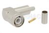 TNC Male Right Angle Connector Crimp/Solder Attachment for PE-C200, LMR-200 -- PE44846 -Image