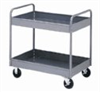 Steel Reversible Lab Cart, 2 Shelf, 500 lb Cap; 36