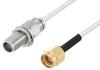 2.4mm Female Bulkhead to SMA Male Cable 24 Inch Length Using PE-SR405FL Coax -- PE3W03550-24 -Image