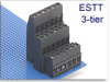 3-Tier Fixed Terminal Block Modules -- ESTT Multi-Tier Tall-Profile Modular Assembly -- View Larger Image