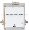 41 dB Gain Medium Power GaAs Amplifier at 1 Watt Psat Operating from 8 GHz to 12 GHz with SMA Input, SMA Output -- SPA-120-41-01-SMA -Image