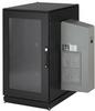 ClimateCab NEMA 12 Server Cabinet with M6 Rails and 5000-BTU AC Unit - 24U, 51