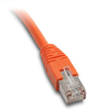 ETHERNET PATCH CABLE, CAT5E STP, 10FT (3.0m), ORANGE -- C5E-STPOR-S10