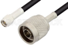 SMA Male to N Male Cable 72 Inch Length Using RG223 Coax, RoHS -- PE3519LF-72 -Image