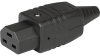IEC Connector C21, for very hot conditions 155°C, Rewireable, Straight