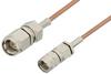 SMA Male to Reverse Thread SMA Male Cable 60 Inch Length Using RG178 Coax -- PE35363-60 -Image