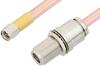 SMA Male to N Female Bulkhead Cable 6 Inch Length Using RG401 Coax, RoHS -- PE34157LF-6 -Image