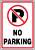Parking Sign,14 x 10In,R and BK/WHT -- 8WUX8