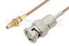 BNC Male to SSMC Jack Bulkhead Cable 18 Inch Length Using RG178 Coax -- PE3C4398-18 -Image