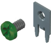 Slim-Line PC Screw Terminal, 90°- Unassembled w/ Green screw -- 8183-6 -Image