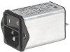 IEC Appliance Inlet C14 with Filter, Line Switch 1-pole