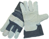 Leather Palm Safety Cuff Gloves -- 85-DB7563P