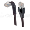 Category 5E Shielded Right Angle Patch Cable, Straight/Right Angle Up, Black 10.0 ft -- TRD815SRA2BLK-10 -Image