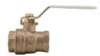 Lead Free* 2-Piece, Full Port, Brass Ball Valve -- LFFBV-3C-SS, LFFBVS-3C-SS -Image