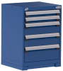Heavy-Duty Stationary Cabinet , 5 Drawers (24