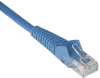 1-ft. Blue Cat6 Gigabit Snagless Molded Patch Cable (RJ45 M/M) - 50 Piece Bulk Pack -- N201-001-BL50BP - Image
