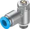 One-way flow control valve -- GRLZ-1/8-QS-8-D -Image