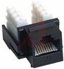 Jack, Keystone; Black; For CAT 6 cable -- 70121201