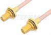 SMA Female Bulkhead to SMA Female Bulkhead Cable 60 Inch Length Using RG402 Coax -- PE33518-60 -Image