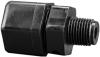 Fisnar 7610BP Straight Male Connector Black 0.125 in NPT, 0.375 in Tube -- 7610BP -Image