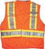 L/XL 5 Point Orange Safety Vest -- 8377483