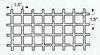 Fiberglass Molded Grating -- Item # FM-1.5-1.5-1.5, 1-1/2