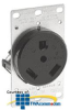 Leviton Flush Mount Receptacle for Recreational Vehicles -- 7313