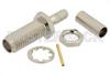 SSMA Female Bulkhead Connector Crimp/Solder Attachment For RG174, RG316, RG188, .177 inch D Hole -- PE44388 -Image