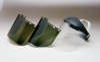 "Huntsman Faceshields - H9154D Dark green, bound > SIZE - 9""x15 1/2""x.040"" > STYLE - 24/Bx > UOM - Each -- 3000135 -- View Larger Image"