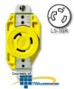 Leviton 30 Amp 125V Single Locking Flush Receptacle -- 26CM-10