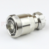 7/16 DIN Female (Jack) to 4.1/9.5 Mini DIN Male (Plug) Adapter IP67 Mated, Tri-Metal Plated Brass Body, 1.25 VSWR -- SM4419 - Image