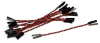 Header Jumper Kit, Set of 10 Red/Black Twisted Pairs, 3.5 Inches -- 199101-01