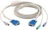KVM FLASH CABLE VGA PS2 TO SUN CPU 6FT -- EHN429-0006 -- View Larger Image