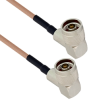 N Male Right Angle to N Male Right Angle Using Flexible RG400 Coax Cable 12