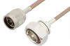 N Male to 7/16 DIN Male Cable 12 Inch Length Using RG400 Coax -- PE34359-12 -Image