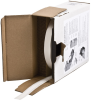 Brady B-498 White Vinyl Cloth Thermal Transfer Continuous Thermal Transfer Printer Label Roll - 0.375 in Width - 300 ft Length - Bulk - BPTLTB-498-375 -- 662820-62656 - Image
