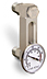 "Aluminum Liquid Level Gage with Dial Thermometer, 3"" Centerline, 3/8"