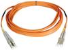 Duplex Multimode 50/125 Fiber Plenum Rated Patch Cable (LC/LC), 30M (100-ft.) -- N520-30M-P