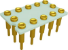 Relay Sockets, Solder Dip/12 Pin -- SCTX-01-12N-N0010-GG - Image