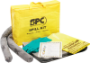 Economy Portable Spill Kit - Oil Only - Absorbency 4 gal/bale - Kit -- 662706-15219