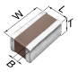 Multilayer Ceramic Chip Capacitor -- C0816X5R0J105M050AC - Image