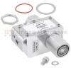 7/16 F/F In/Out Coaxial RF Surge Protector, 100MHz - 512MHz, DC Block, 750W, IP67, 20kA, Filter, Bracket Toward Body -- FMSP1037 -Image