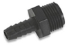 Polypropylene MPT X HB Straight Fitting - Black -- MHBS-01 - Image