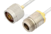 N Male to N Female Cable 18 Inch Length Using PE-SR402FL Coax -- PE3485LF-18 -Image