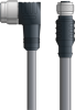 LAPP UNITRONIC® Devicenet™ Thin Extension Cordset - 5 positions male 7/8 inch 90° to 5 positions female M12 straight - Stationary - Gray PVC - 2m -- OLFDN4110029S02 -Image