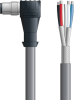 LAPP UNITRONIC® Devicenet™ Thin Single-Ended Cordset - 5 positions male M12 90° to Wire Leads - Continuous Flex - Gray PVC - 2m -- OLFDN4110020F02 -Image