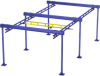Free Standing Work Station Bridge Crane, 1000 lb. Capacity