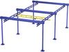 Free Standing Work Station Bridge Crane, 2000 lb. Capacity