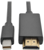 Mini DisplayPort to HDMI Adapter Cable (M/M), 1080p, 3 ft. -- P586-003-HDMI -- View Larger Image